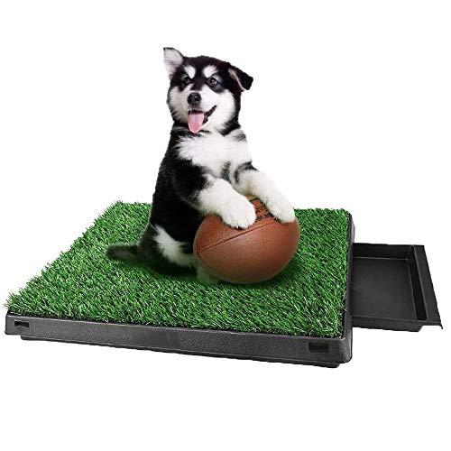 Inodoro para Mascotas portátil con césped Artificial Perro Césped Interior Orinal Perro Almohadilla de Entrenamiento de Hierba para Animal Doméstico, 63 x 50 x 7 cm