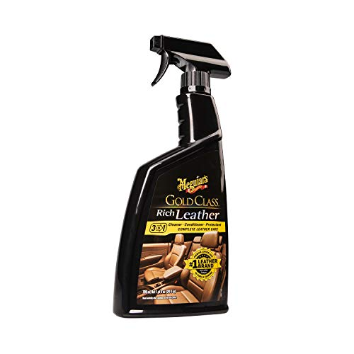 Meguiar's G10924SP Gold Class Rich Leather Cleaner and Conditioning Spray, 24 Fluid Ounces