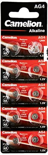 Camelion 12051004 Alkaline-Knopfzelle (AG 4/LR66/LR626/377, 1,5V, 10-er Blister)