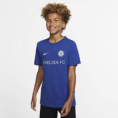 NIKE CFC B Nk tee Core Match Camiseta Fútbol, Niños, Rush Blue, L