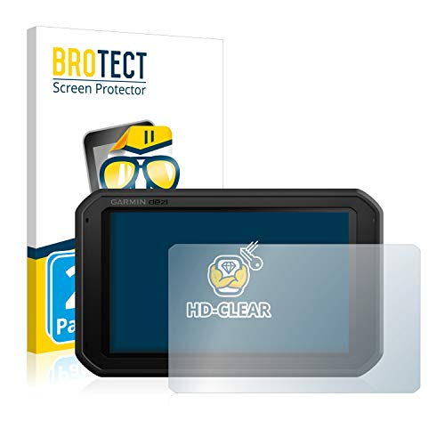 BROTECT Schutzfolie kompatibel mit Garmin dezl 780 LMT-D (2 Stück) klare Displayschutz-Folie