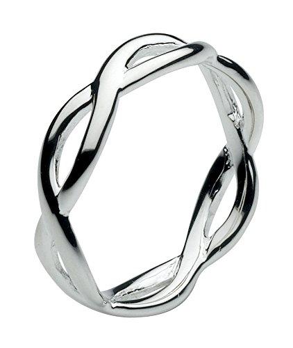 Dew Sterling Silver Open Twist Ring - Size - M