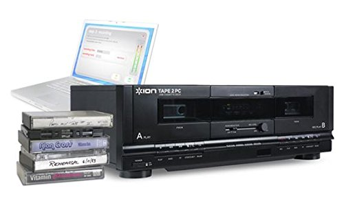 ION Audio Tape 2 PC   USB Cassette Deck Conversion System with RCA & USB cables