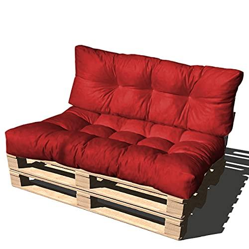 ValoreItalia Cuscino per Bancale Divano Pallet 80X120 Seduta e Schienale in Microfibra per Bancali (Bordo)