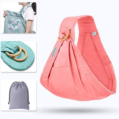RTGID Baby Wrap Ring Sling Baby Carrier Mochila Funda de enfermería para bebés Niños Soft Natural Wrap Algodón Transpirable, 2