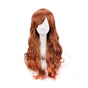 Women s Fashion Long Curly Brown Cosplay Wig Costume Wig