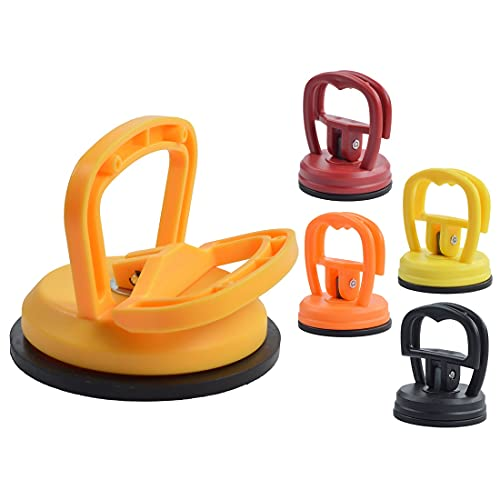 5Pcs/Set Puller Handle Lifter Suction Cup Car Dent Puller Powerful Traceless Car Body Dent Removal Tools for Car Body Dent Puller Repair, Glass, Screen, Tiles, Mirror Lifting and Objects Moving