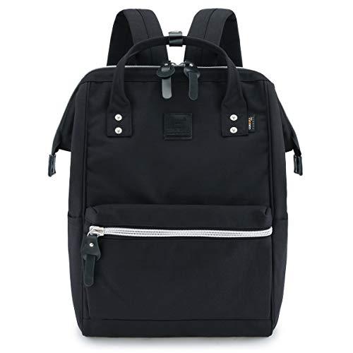 """Himawari Travel Backpack Large Diaper Bag School Backpack for Women&Men 17.7""""x11.8""""x7.9""""(black&plus)"""