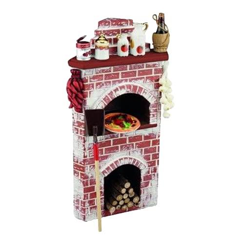 Dolls House pizzaugn med tillbehör slutare miniatyr köksmöbler 1:12