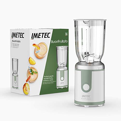 Imetec BuonFrullato, Frullatore Compatto, Bicchiere in Plastica BPA Free, Capacità 700 ml, Coperchio Dosa Liquidi, 400 W