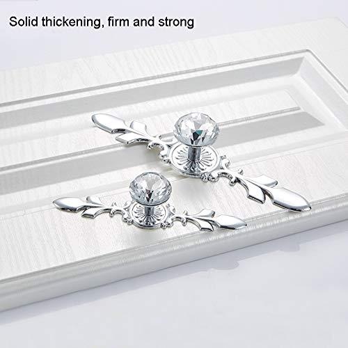 Liujingxue kabinet deurkruk, 10 stuks 8102 enkele gat diamantkast salontafel wijnkast deur glazen kogelgreep, ideaal voor keukenkasten, kasten en lades