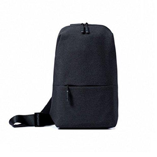 Xiaomi 15938  Mi City Sling Bag Gris fonce Sac à Dos - Sacs à Dos (Gris fonce , Uniforme, Unisexe, Poche Frontale)