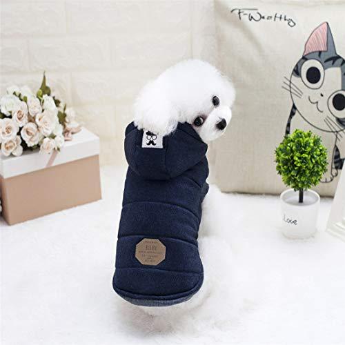 JSANSUI Gepersonaliseerde kleding voor honden, winter, voor huisdieren, hondenkleding, snor voor beide voeten, warm, capuchon, maat XL