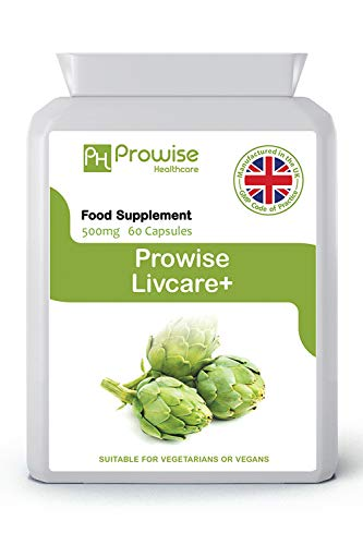 Livcare+ 500mg 60 Capsules–UK Manufactured | GMP Standards by Prowise Healthcare - Suitable for Vegetarians & Vegans