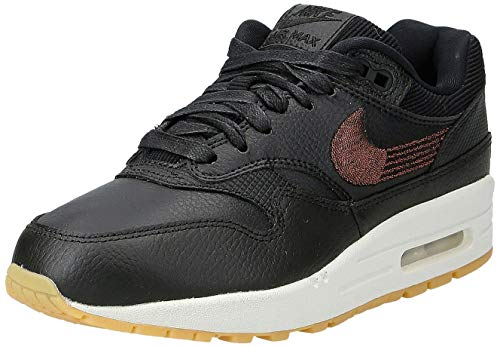 Nike WMNS Air Max 1 PRM, Chaussures de Running Compétition Femme, Multicolore (BlackBlackGum YellowSummit White 020), 36.5 EU