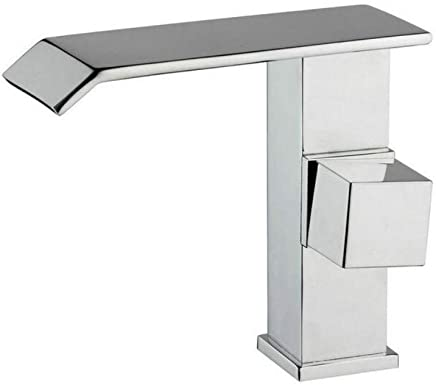 Modern Double Basin Sink Hot and Cold Water Faucetfaucet Bathroom Waterfall Chrome Brass Deck Mounted Single Handle Basin Sink
