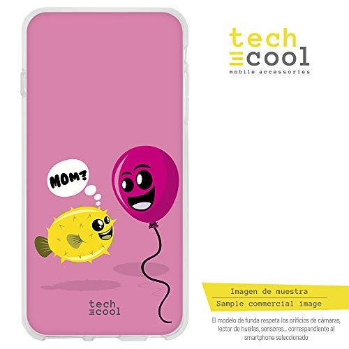 Funnytech® beschermhoes van siliconen voor LG G6 [flexibele siliconengel, exclusief design] ballonnen roze.
