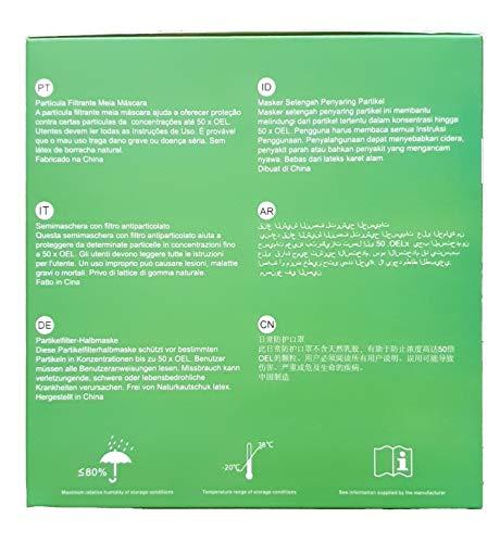 6X FFP3 Atemschutzmaske 99% Filter DreamCan Halbmaske Staubmaske Atemmaske Schutzmaske mit Ventil - 3