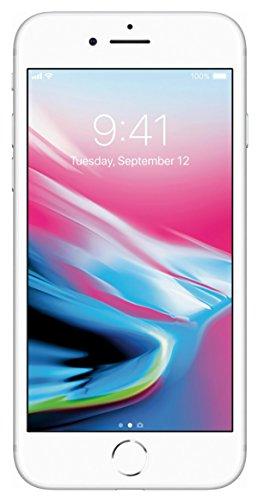 Apple iPhone 8, 64GB, prata - totalmente desbloqueado (Renovado)