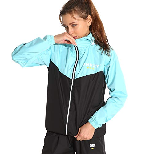 DNRZY F.I.T Sauna Sweat Suits for Men and Women Weight Loss Fitness Gym Exercise Workout Clothes Hooded Jacket Pants Full Body Suits