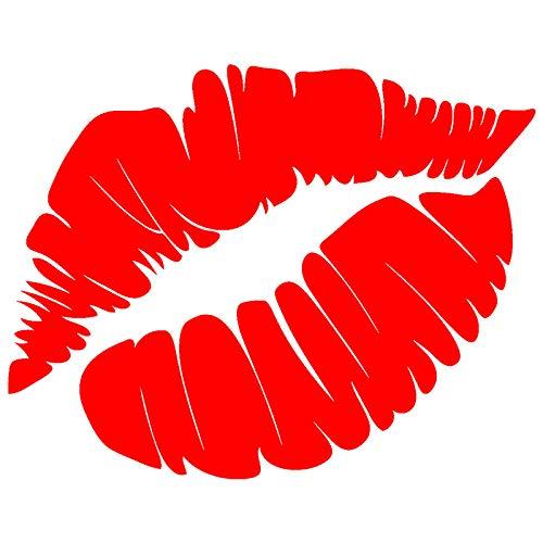 ZQZL Etiqueta engomada Divertida del Coche Etiqueta engomada del Labio Rojo Encantador Etiqueta Impermeable Accesorios de decoración Vinilo 15 cm * 11 cm