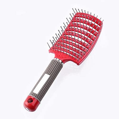 Cepillo de pelo para el cuero cabelludo e Peine Cepillo de pelo de nailon y cerdas para mujer Cepillo de pelo rizado húmedo para salón de peluquería Herramientas de peinado-Reino Unido, 05