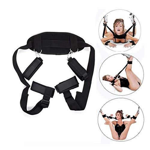 Black Verstelbare Duurzaamheid Romantisch Paar Swing Met Toy Handboeien 262 gram