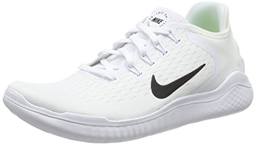 Nike Men's Free RN 2018 Running Shoe White/Black Size 9.5 M US