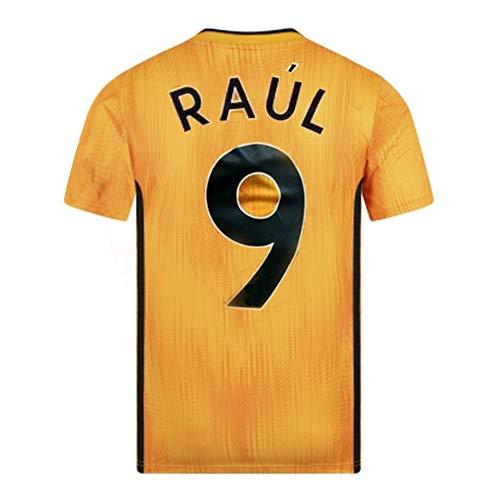LDFN Raúl Jiménez 9# Fußball Jersey, atmungsaktiv und schnell trocknend Fußball-Sweatshirt, Sport mit kurzen Ärmeln for Herren und Kinder (Color : Yellow, Size : Adult-XL)