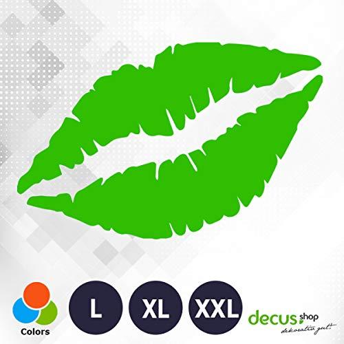 Decus Kiss Kus 0208 // sticker OEM JDM Style sticker XXL (ca. 60x37 cm) groen