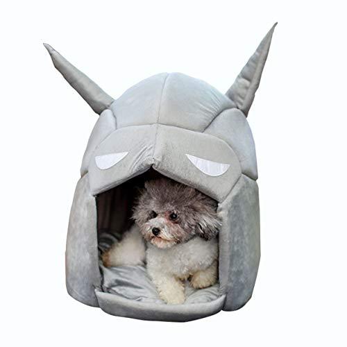 QHYY Batman-vorm huisdierbed afneembaar winterwarme huisdier slaapzak Breath hond en kattenhuis