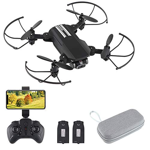 PinBoTronix FPV WiFi Drone con cámara 4K, Gran Angular con Doble cámara 4K Drone Plegable RC Quadcopter con LED Optical...