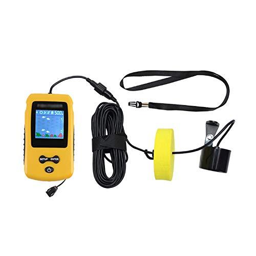 LSGMC Buscador de Peces de Mano Portátil, con Transductor de Sonda y Pantalla LCD Pantalla HD, Buscador de Profundidad de Peces para Kayak de Pesca Equipo de Pesca