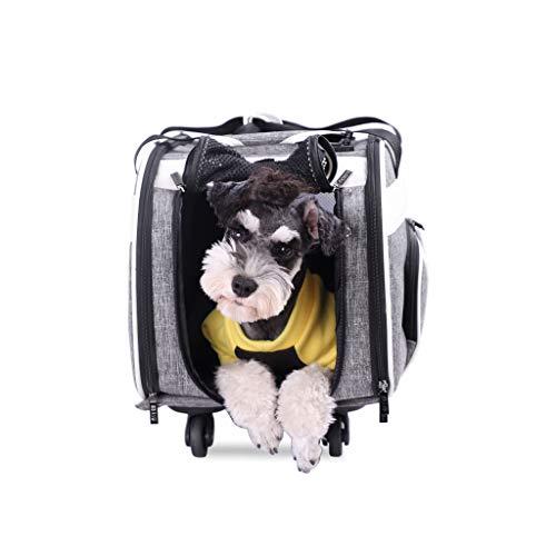 JXLBB Chien Gris en Dehors du Sac de Transport pour Animaux Trolley Bag Sac de Chat Respirant Grande Voiture Keji Shiba Inu Pet Backpack