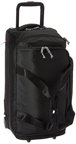 Vera Bradley Women's Duffle Luggage Vera Bradley Women s Lighten Up Foldable Duffel Rolling Suitcase Black One Size, Black, One Size US