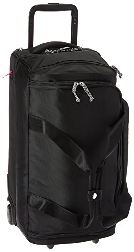 Vera Bradley Women's Lighten Up Foldable Rolling Duffle Luggage, Black, One Size