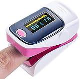Sooiy Ropa de Maternidad Dedo Dedo medidor de oxígeno en la Sangre del oxímetro de Pulso Monitor de Ritmo cardíaco púrpura, Rosa