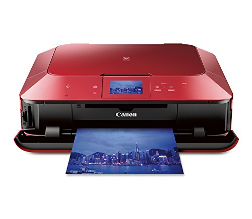 Canon PIXMA MG7120 Wireless Color Photo All-In-One Printer, Mobile Smart Phone and Tablet Printing, Red