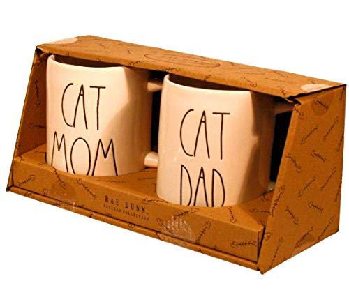 Rae Dunn - Cat Mom Cat Dad Pet Parents mug cup set