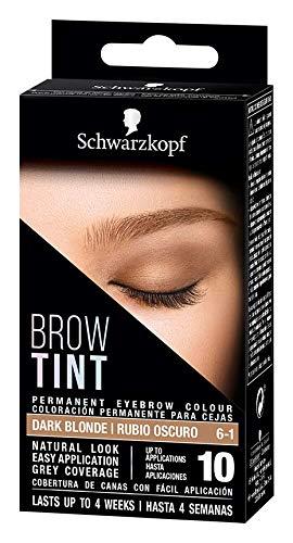Schwarzkopf Brow Tint - Tinte De Cejas Rubio Oscuro Tono 6.1 (Pack de 3)