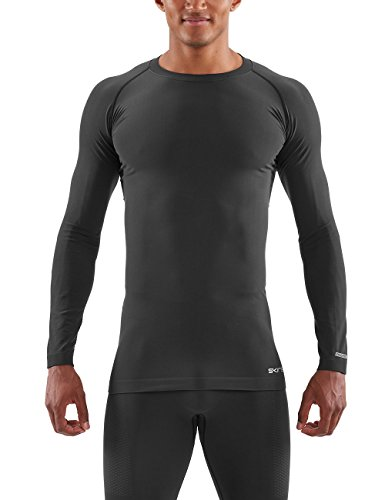 SKINS DNAmic Base Mens L/S Top Black XL Long Sleeve Homme, FR Taille Fabricant