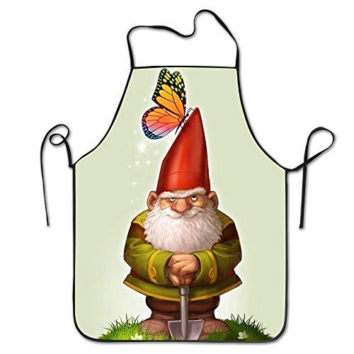 N / A Cooking Chefs Apron,Novelty Apron,Garden Apron,Kitchen Apron,Bbq Aprons,Bib Apron,Personalised Party Apron,Gnomes Aprons For Women/Men Bib Save-All Tailgate Waitress Attitude Funny Chef Apron