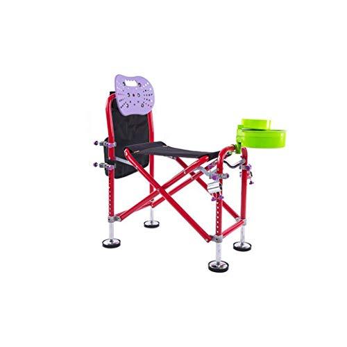 Porta Angeln Stuhl Leichtklapp High Back Camping-Stuhl Portable for Außenlager, Angelstuhl Außengelände Reise, Picknick,