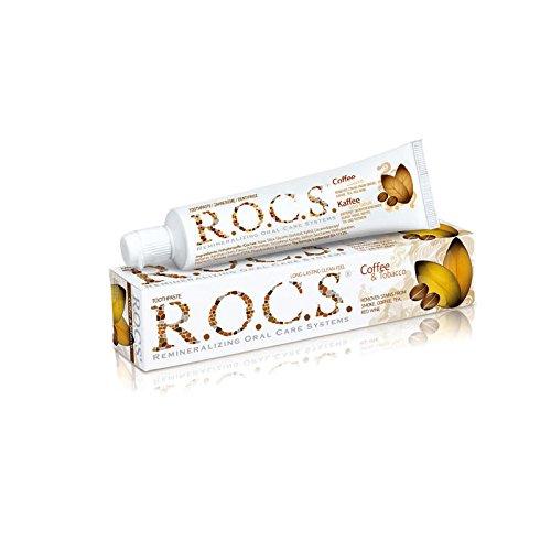 3x ROCS Kaffee und Tabak Whitening Zahncreme 74g (3x 74g)