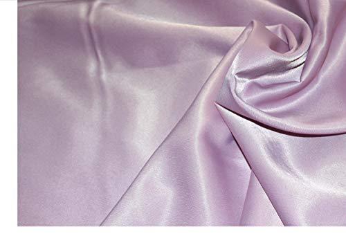 Tissu crêpe satin stretch lilas