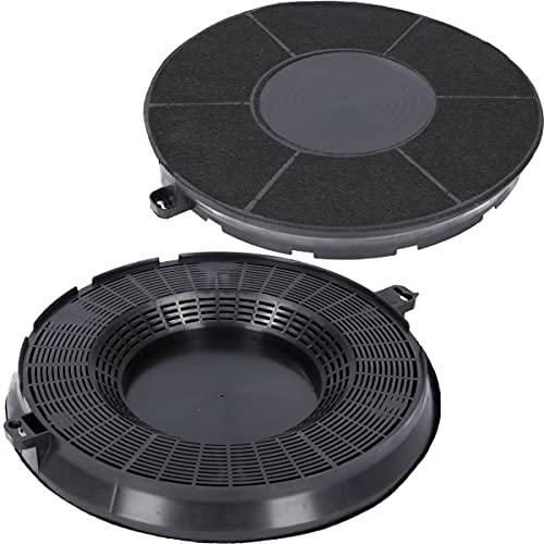2x Aktivkohlefilter für Dunstabzugshaube geeignet für Kohlefilter AEG 9029800506 + 9029793610, Elice Model Type48, Whirlpool 480122101262, IKEA Nyttig FIL900 - Filter für Abzugshaube