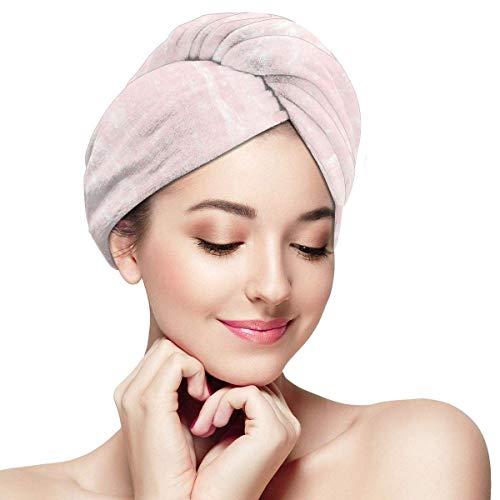 N/A Toalla de pelo turbante de microfibra de secado rápido, arañazos de piedras preciosas de belleza natural con forma de cristal mineral, impresión digital