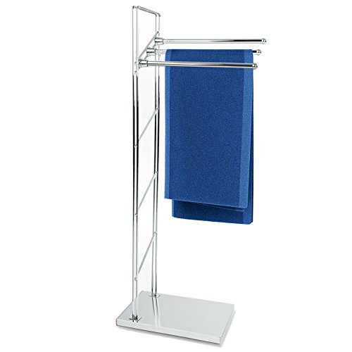 casa pura® Handtuchständer Apollo | freistehender Handtuchhalter | Testnote 1,8 | 3-armig | 38x20x93cm