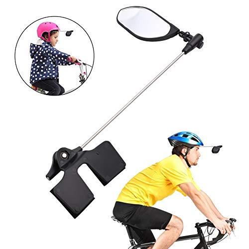 PChero Bike Helmet Mirror, 360 Degree Adjustable Lightweight Bicycle Rearview Mirror for Adult Kids Mountain Road Cylcing