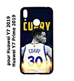 coque-personnalisable® Coque pour Huawei Y7 2019 / Y7 Prime 2019 Stephen Curry Golden State...
